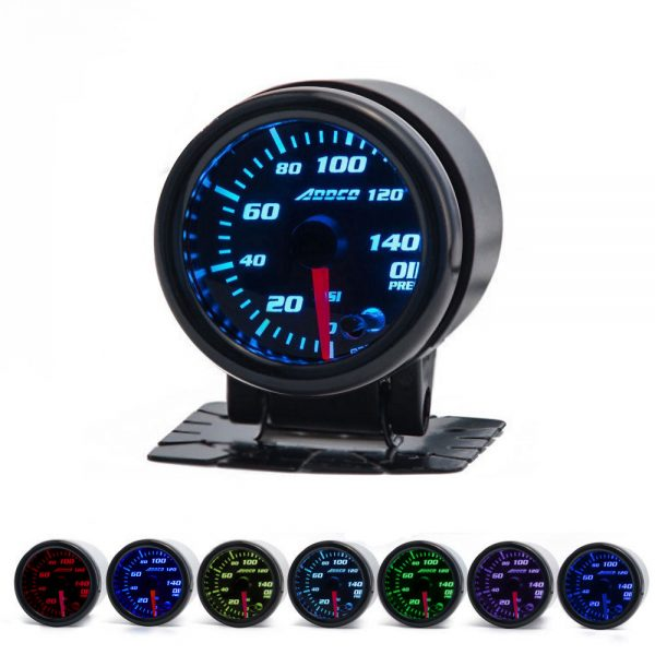 "Addco 12V 7 Color 2"" Oil Pressure Gauge"