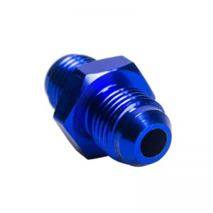 6AN Male to 6 AN Male Aluminium Straight Fitting Hose Adapter blue