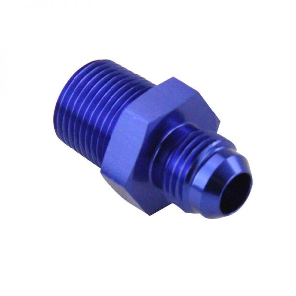 Male 6AN to Male 3-8 NPT Straight Adapter Flare Fitting -6an 6 an