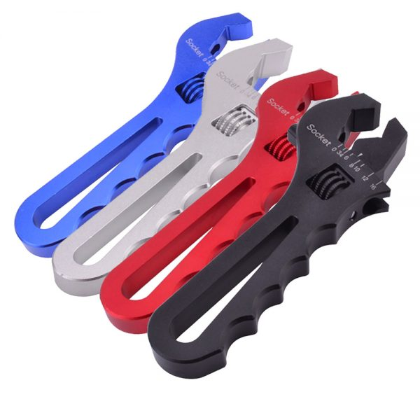 AN Adjustable Wrench Billet Aluminum Spanner Blue red black silver
