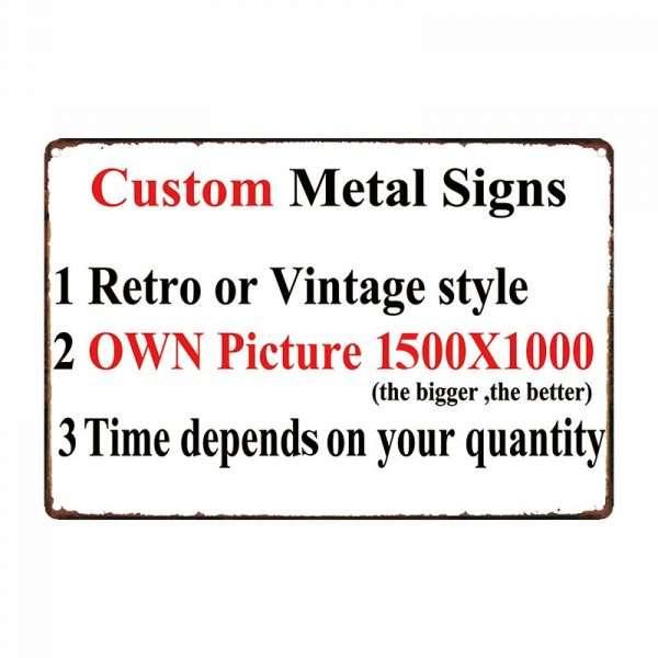 Custom Made Garage Signs