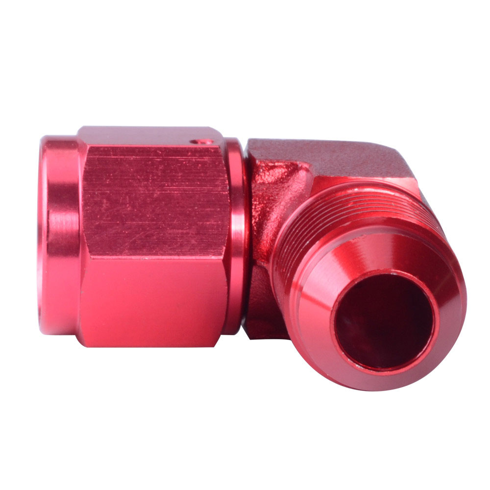12AN 90 Degree Red Swivel Coupler