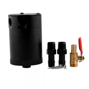 Oil Catch Can 2 / 3 Port with Removable Valve Fuel Oil Separator Air Racing Universal Baffled