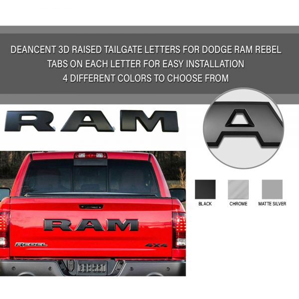 Dodge Ram Tailgate Letters Emblem
