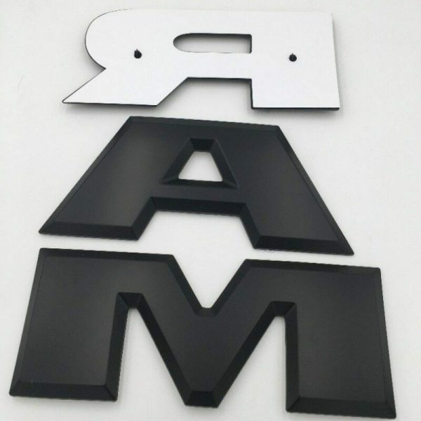Dodge Ram Tailgate Letters Emblem Black