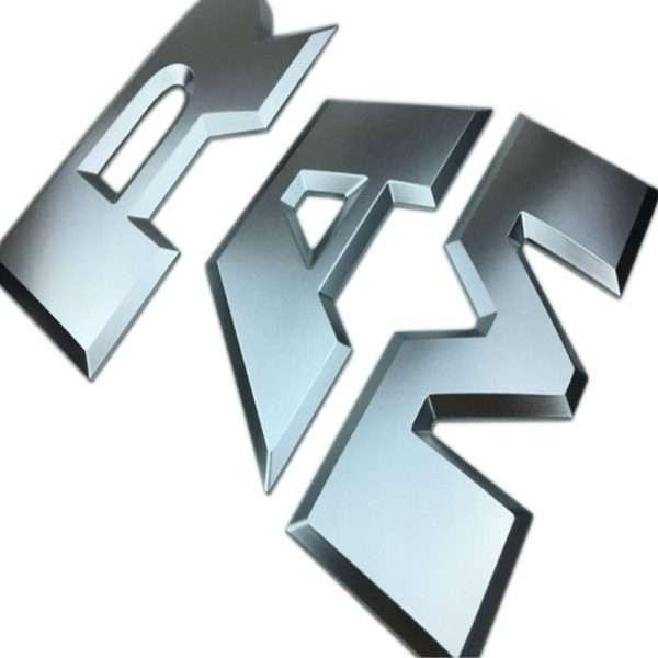 Dodge Ram Tailgate Letters Emblem Silver