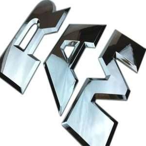Dodge Ram Tailgate Letters Emblem Chrome