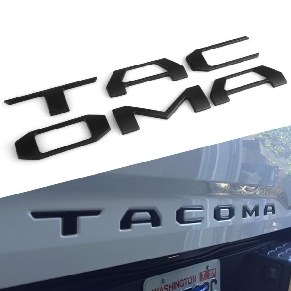 Heavy Duty Raised 3D Car Decal Sticker Letters for Toyota Tacoma 2016-2020 Tailgate 1